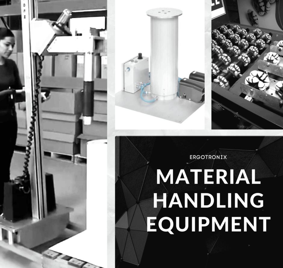 Woman using Ergo Tranz material handling equipment